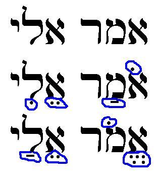 hebrejský text