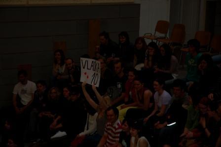 Publikum Slam poetry na FSS. FOTO: Pavel Pichler