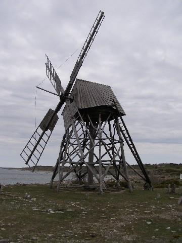 Jordhamn, větrný mlýn na mletí vápence