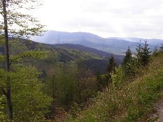 Pohled z pásma Orlíka