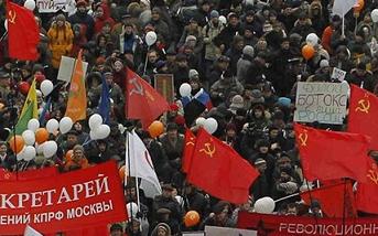 """""""Masové demonstrace"""" aneb pseudohumanistické vrtění Ruskem"""