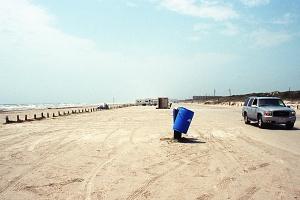 Pláž v Texasu