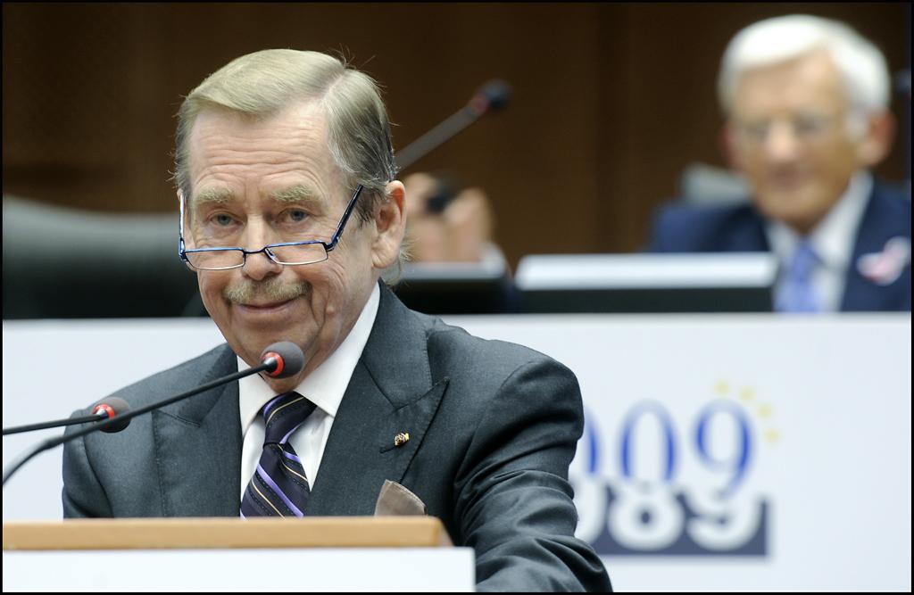 Václav Havel v Evropském parlamentu. Foto EP