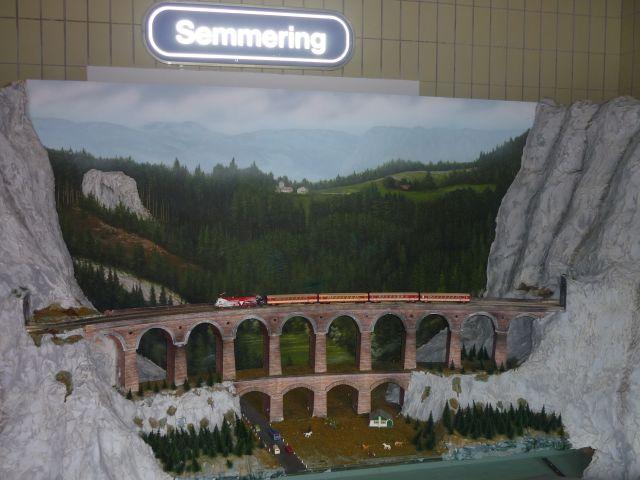 Model viaduktu na stanici Semmering