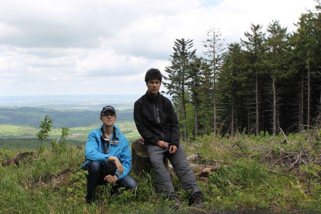 Společná fotka na vrcholu Čupec