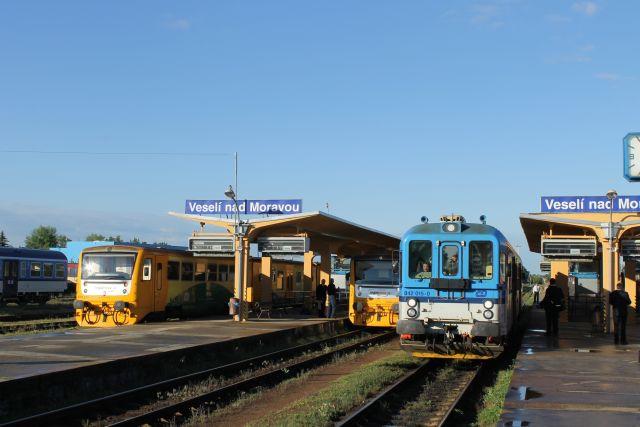 Setkání vlaků ve Veselí nad Moravou