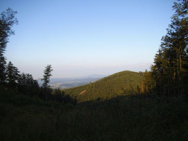 Vyhlídka na krajinu během poslední procházky