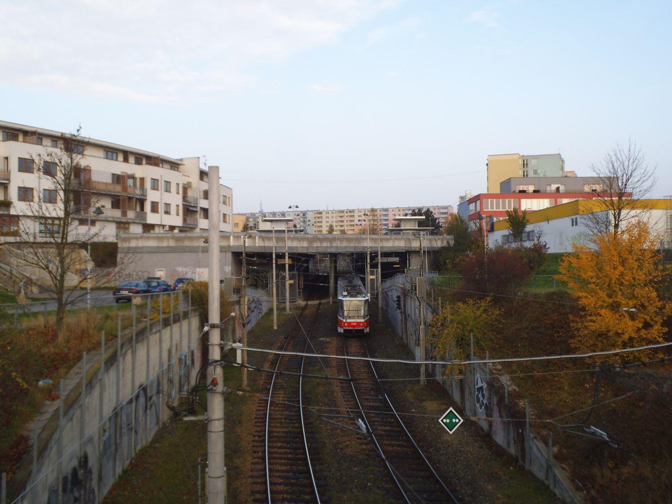 První pohled na stanici Jírova