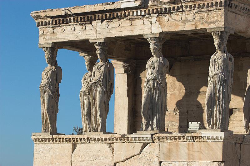 Karyatidy v Athénách
