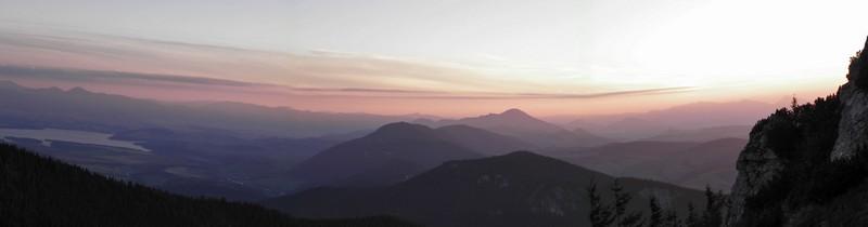 Západ slunce nad Chočskými vrchy
