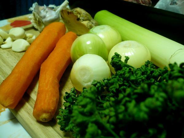 zelenina na vývar
